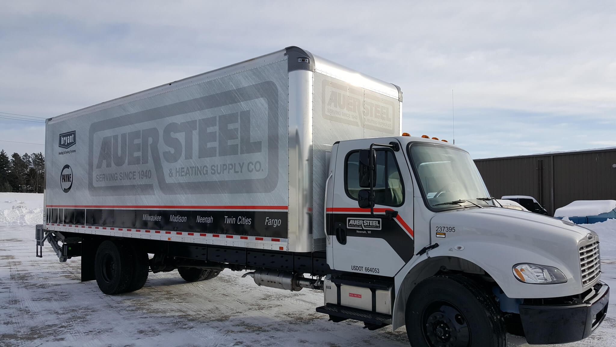 Auer Steel full semi trailer box wrap