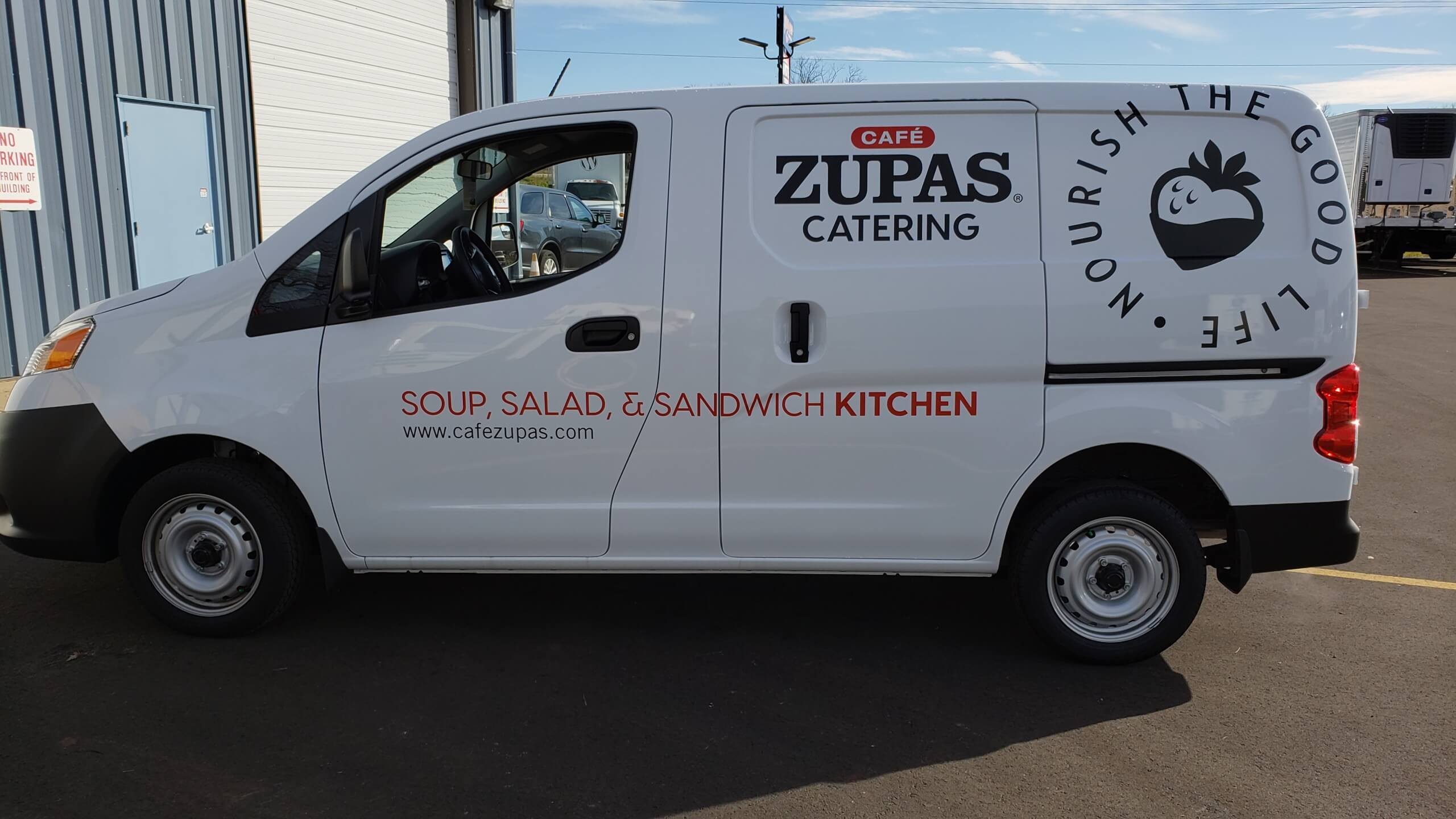 Cafe Zupas Catering vehicle graphics