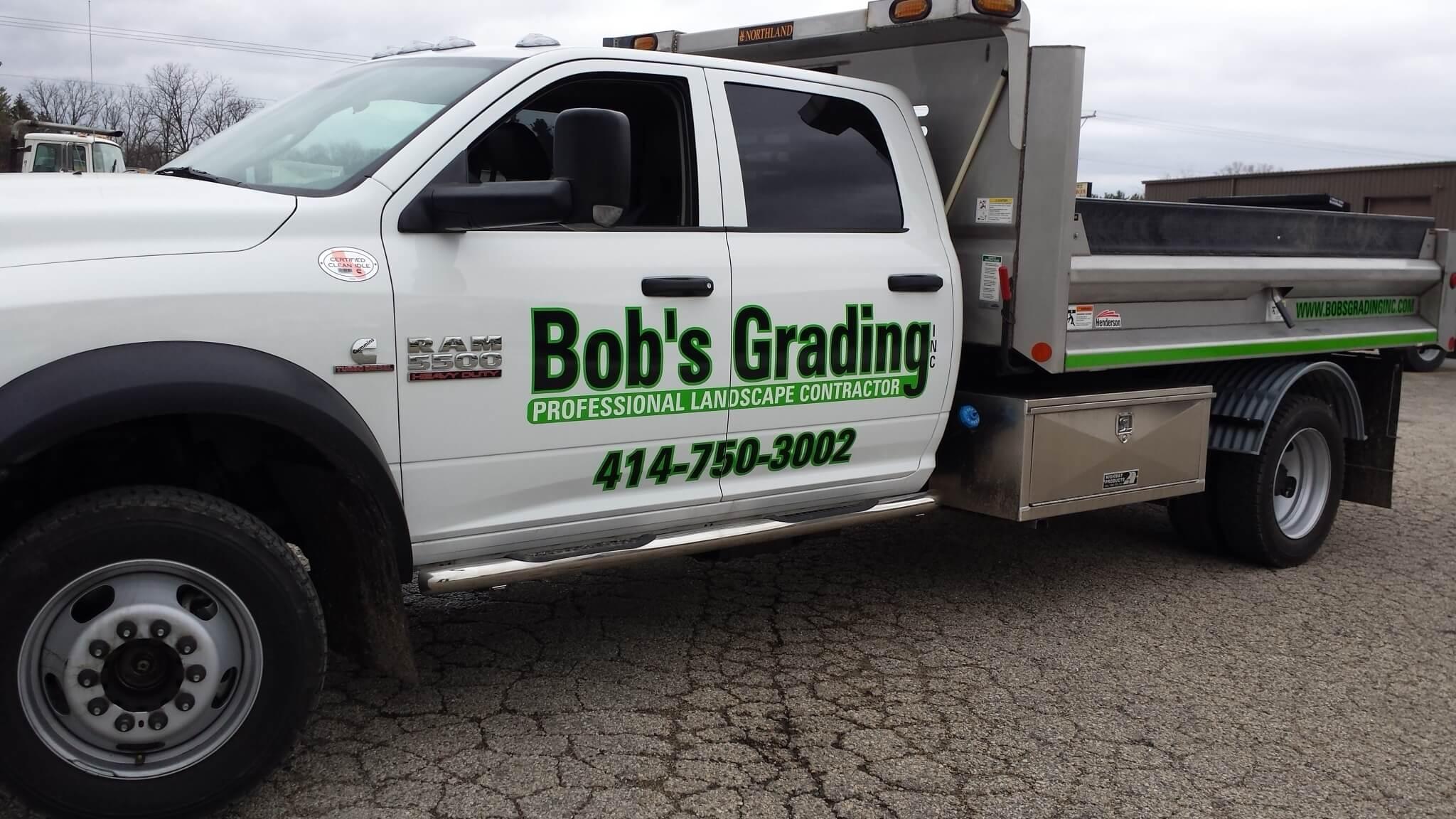 Bob's Grading Service Truck Graphics