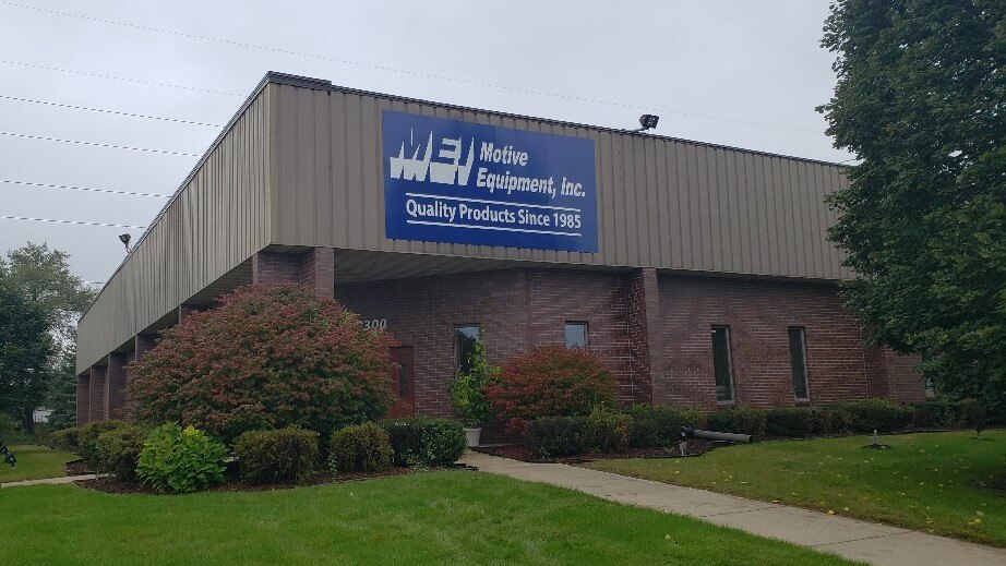 MEI outdoor flush business sign