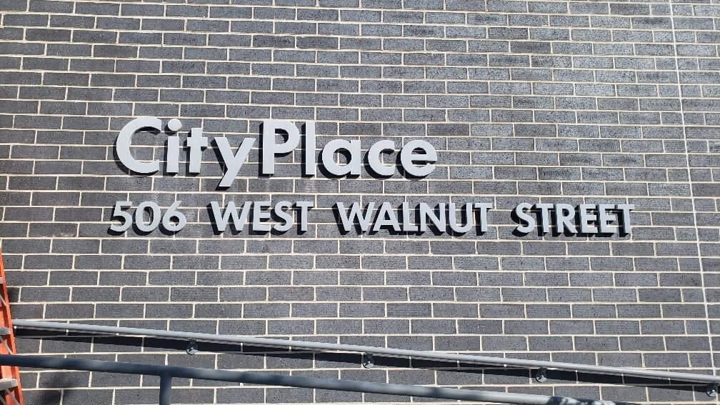 City Place Oak Creed outdoor building sign
