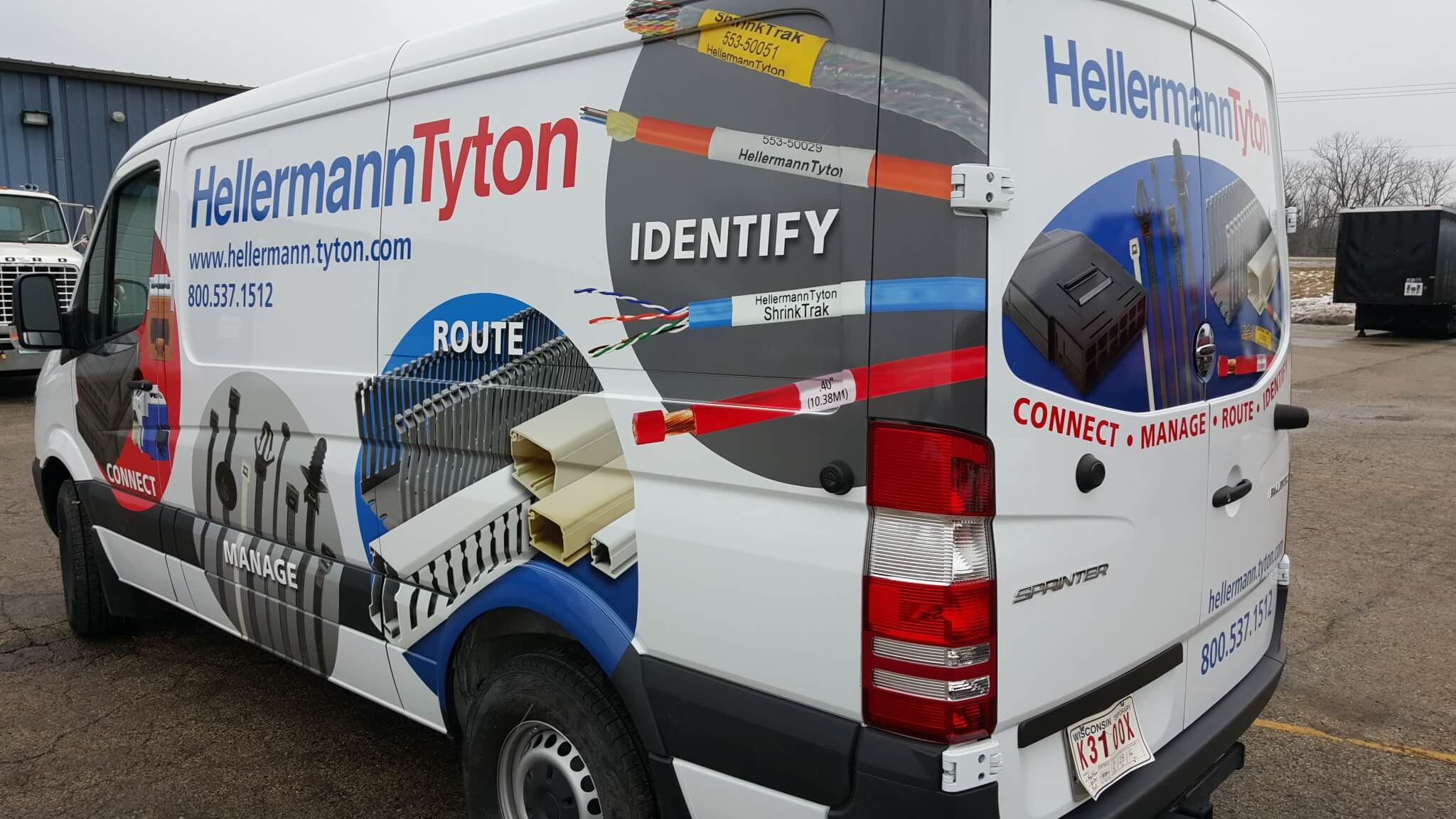 Hellerman Service and Delivery van graphics
