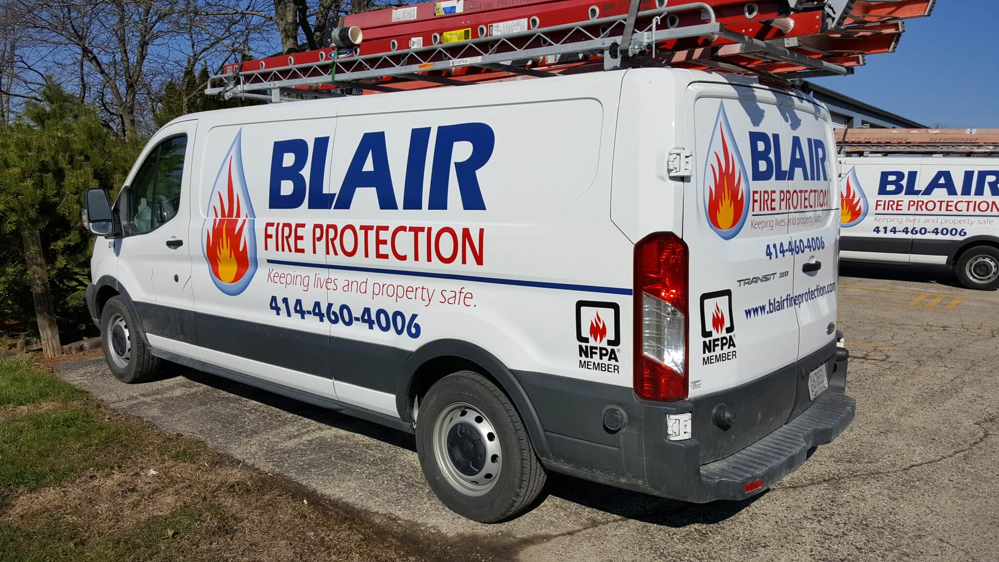 Blair fire protection contractor decals