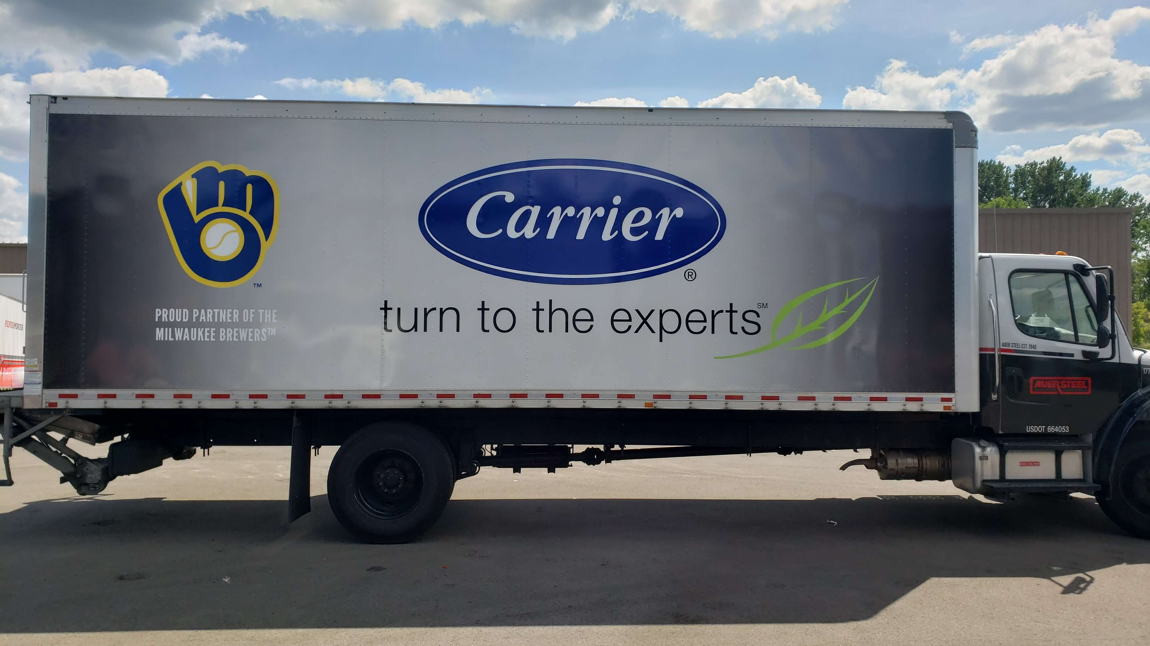 Carrier Heating and Cooling Milwaukee Brewers vehicle wrap
