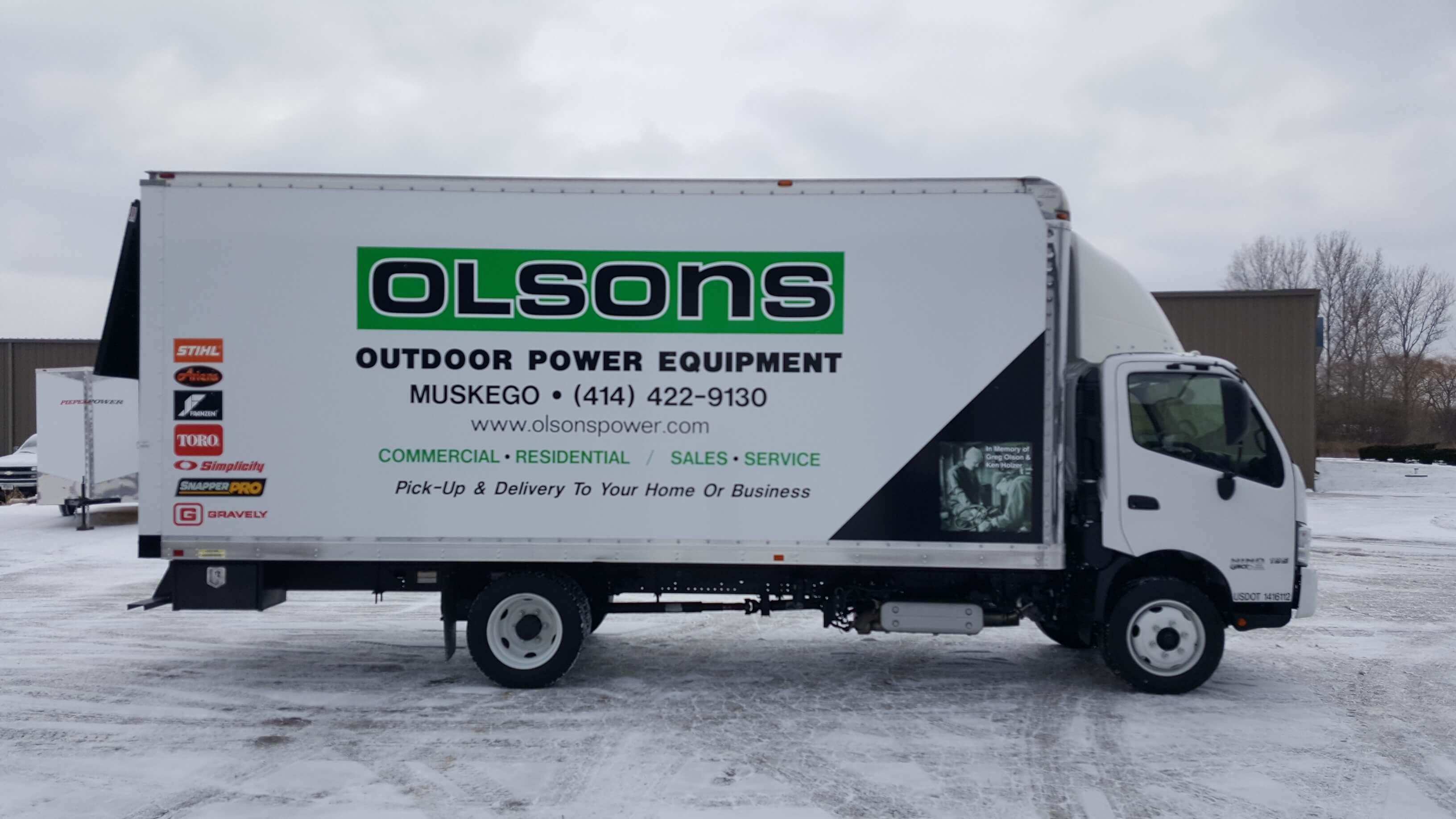 Outdoor trailer wrap