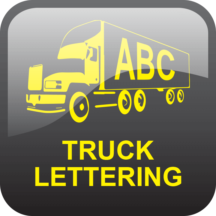 Truck lettering by Signs and Lines by Stretch
