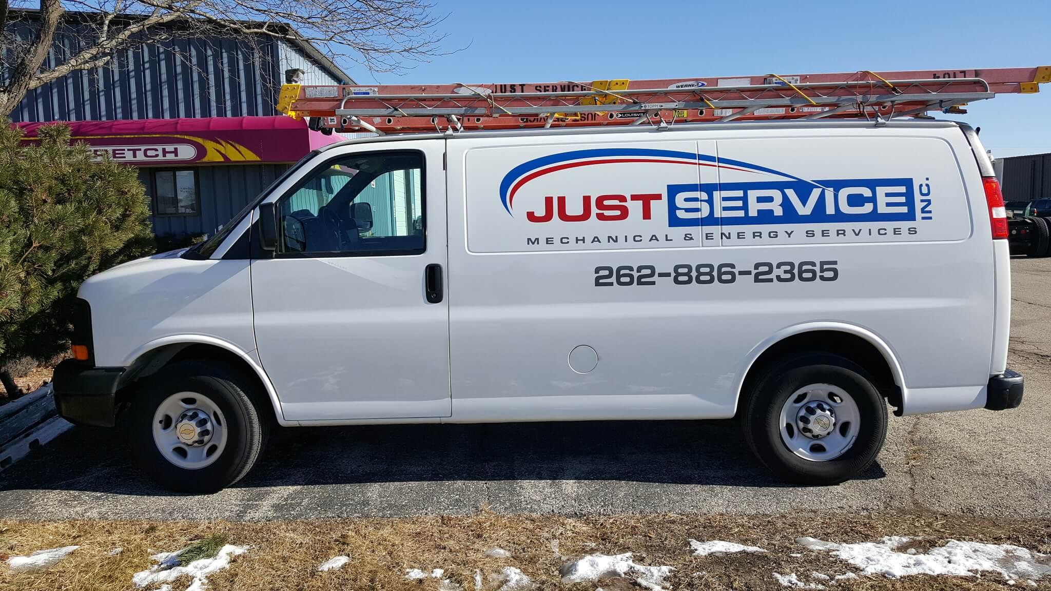 Just service van spot graphics