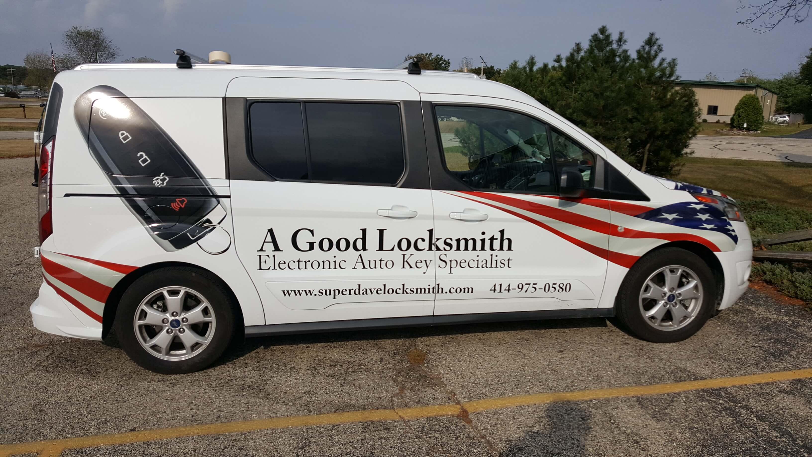 A good locksmith company van graphics