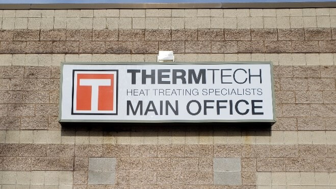 Thermtech outdoor office sign