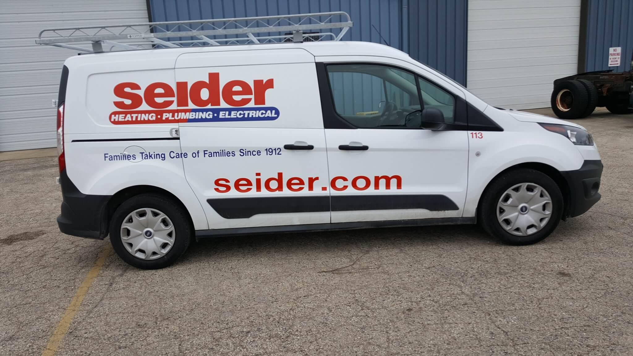 Seider White Spot vehicle graphics