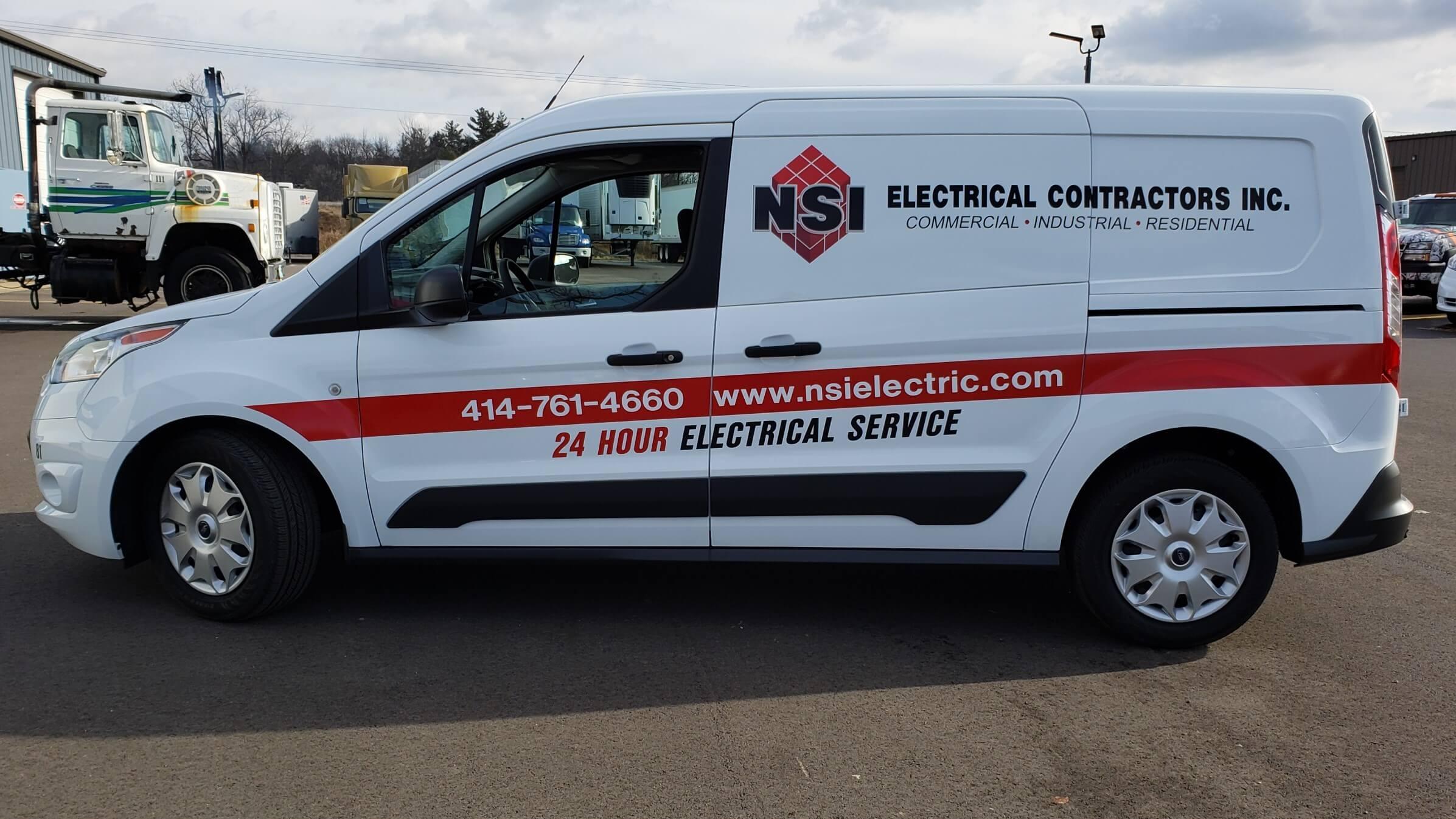 NSI Electrical Fleet Graphics