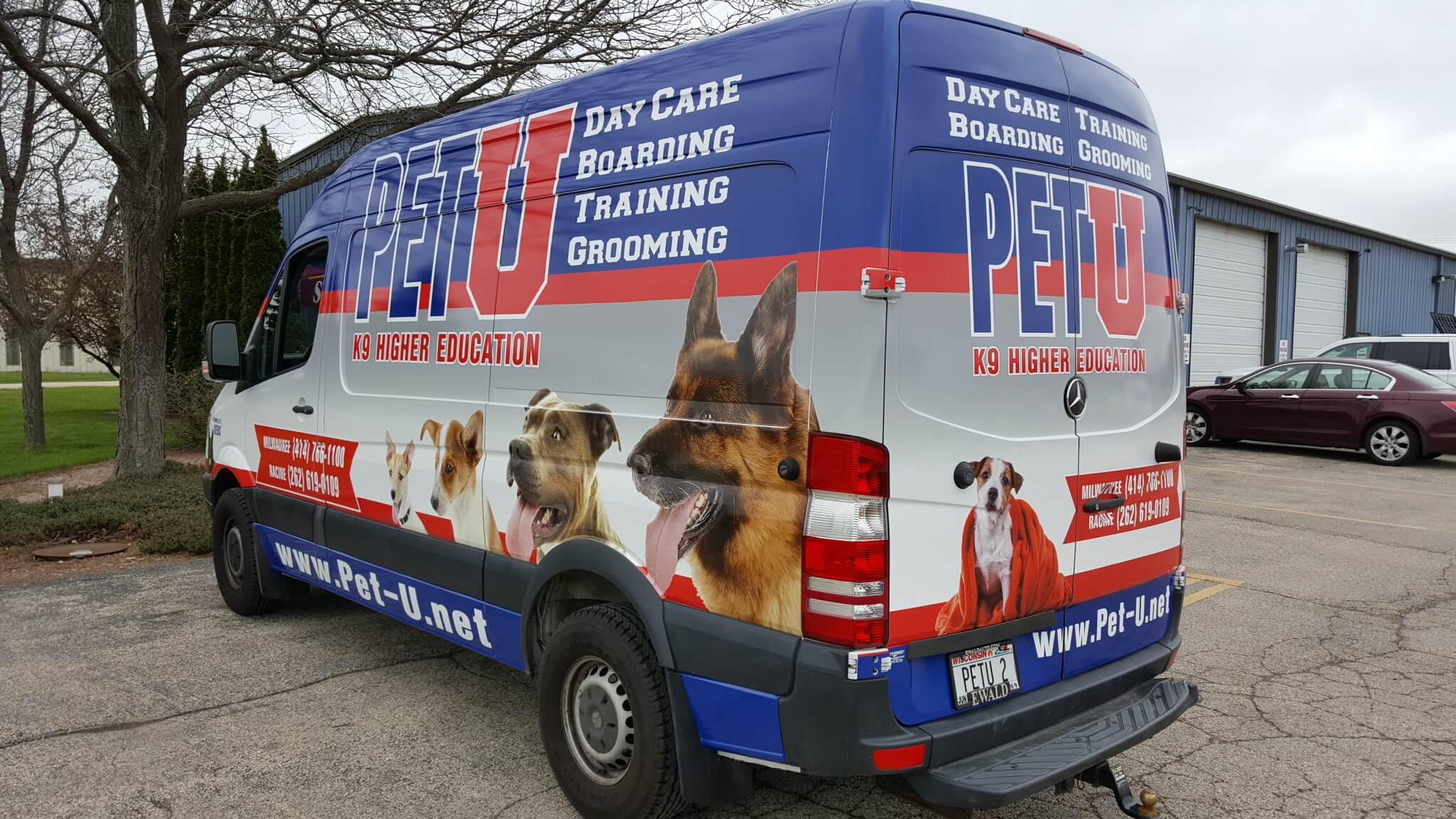PET U Delivery vehicle wrap with decals