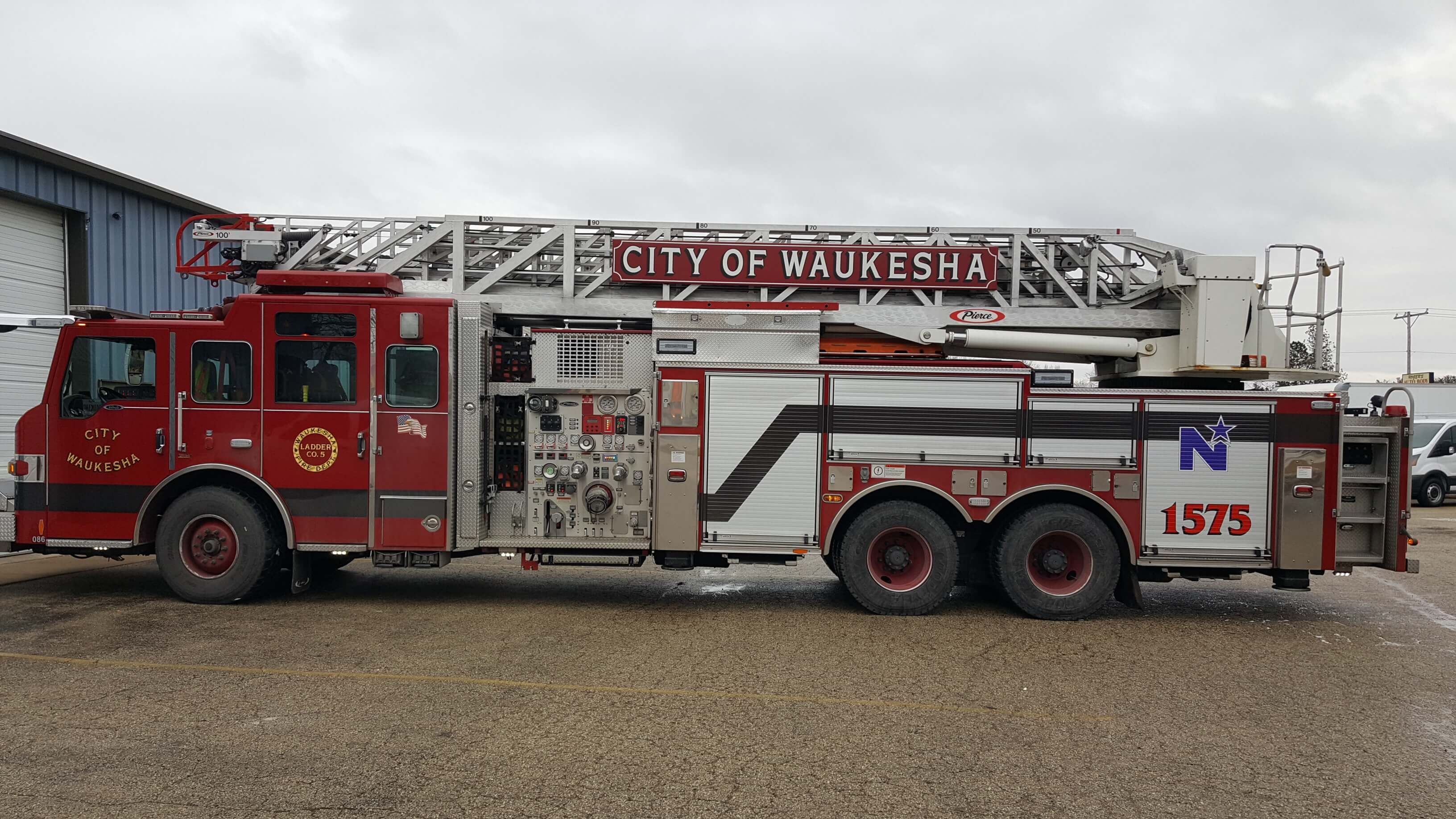 Fire Truck with custom vinyl detailing