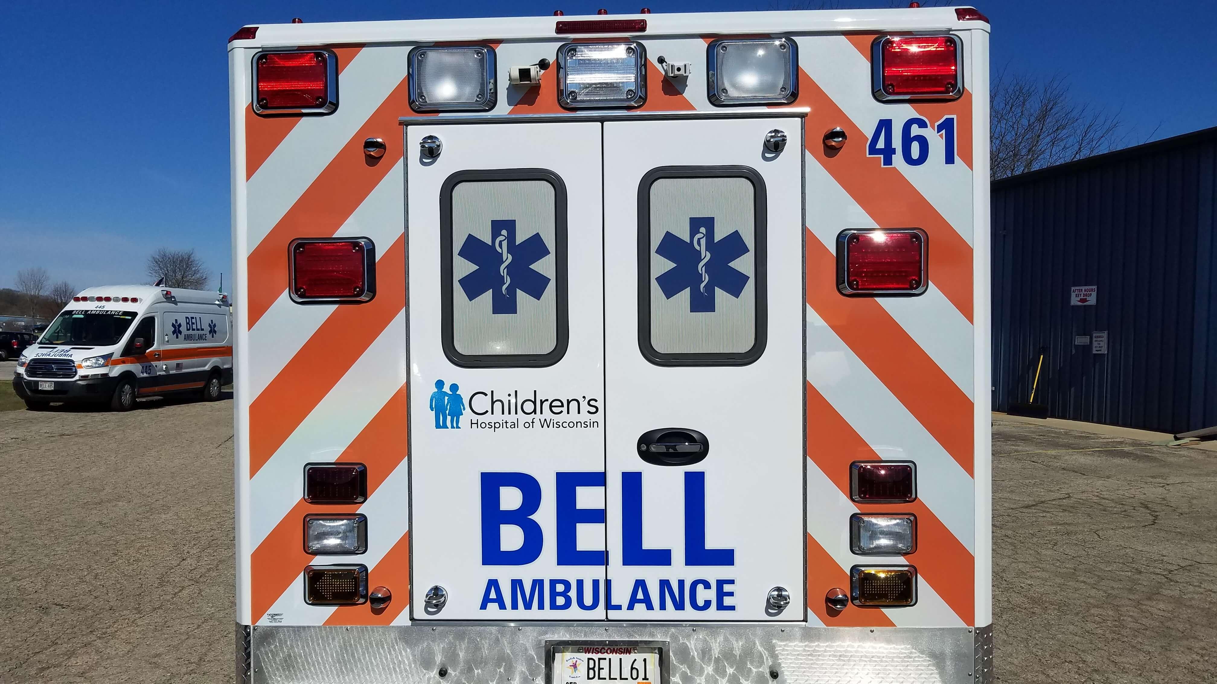 Bell ambulance Children's Hospital decals