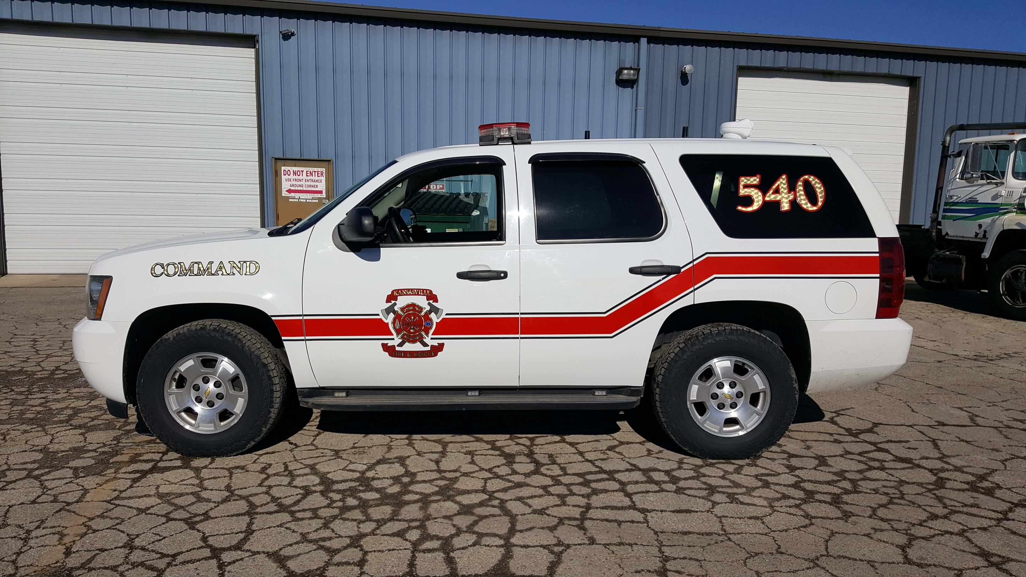 Kansasville Fire Chevrons and Decals
