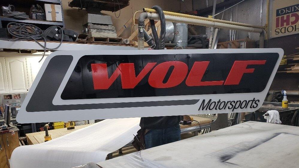 Wolf Motorsports Storm Interior Sign