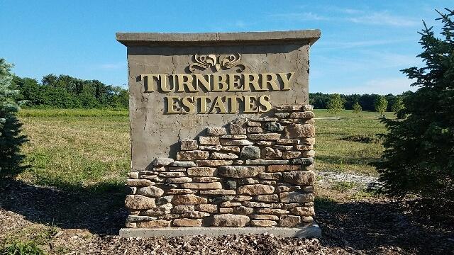 Turnberry Estates Outdoor Brick Sign