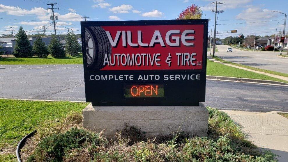 Village Automotive Milwaukee Neon Sign