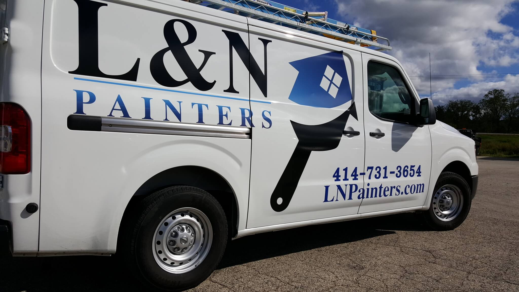 L and N Painters vehicle graphics