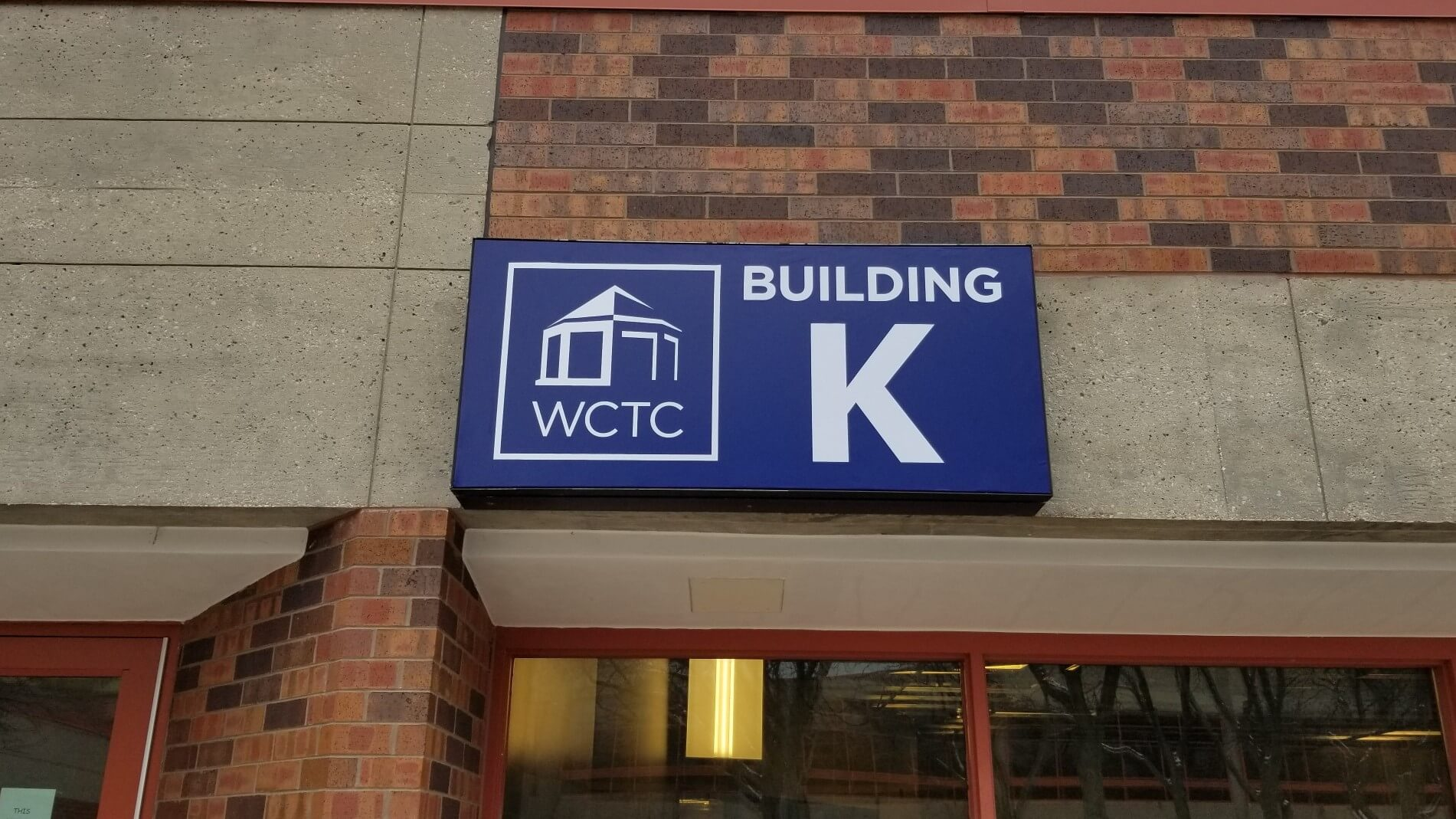 WCTC College outdoor signage