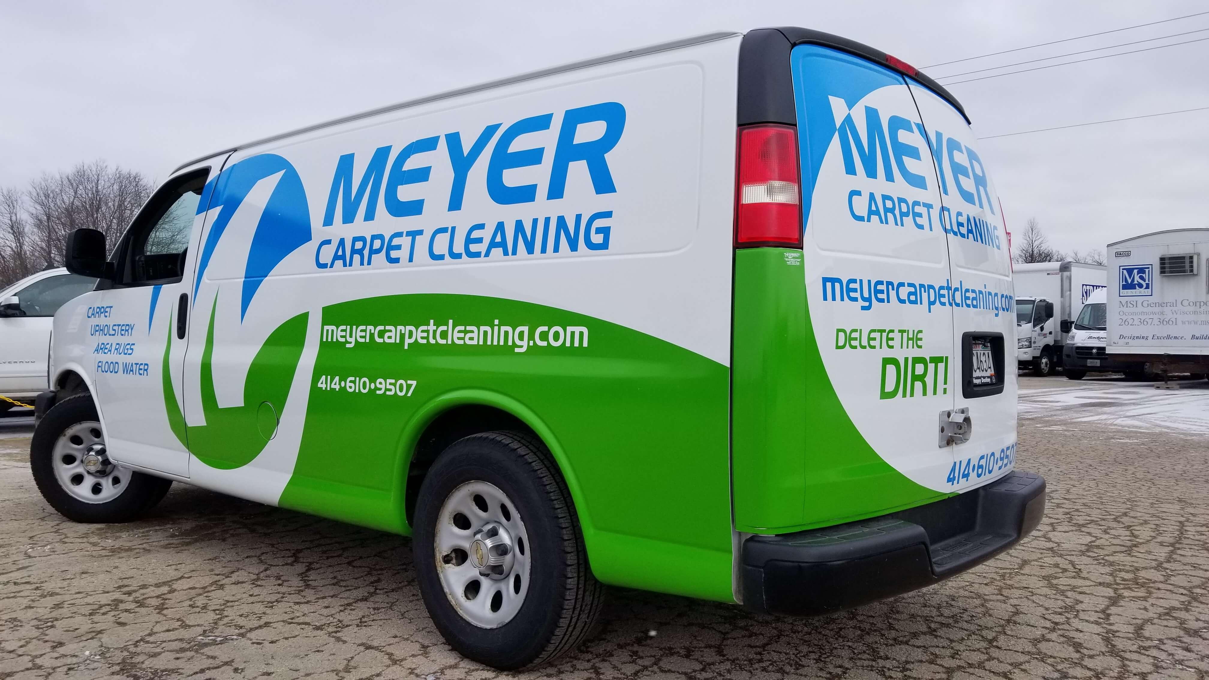 Meyer Carpet Cleaning business van vinyl decals