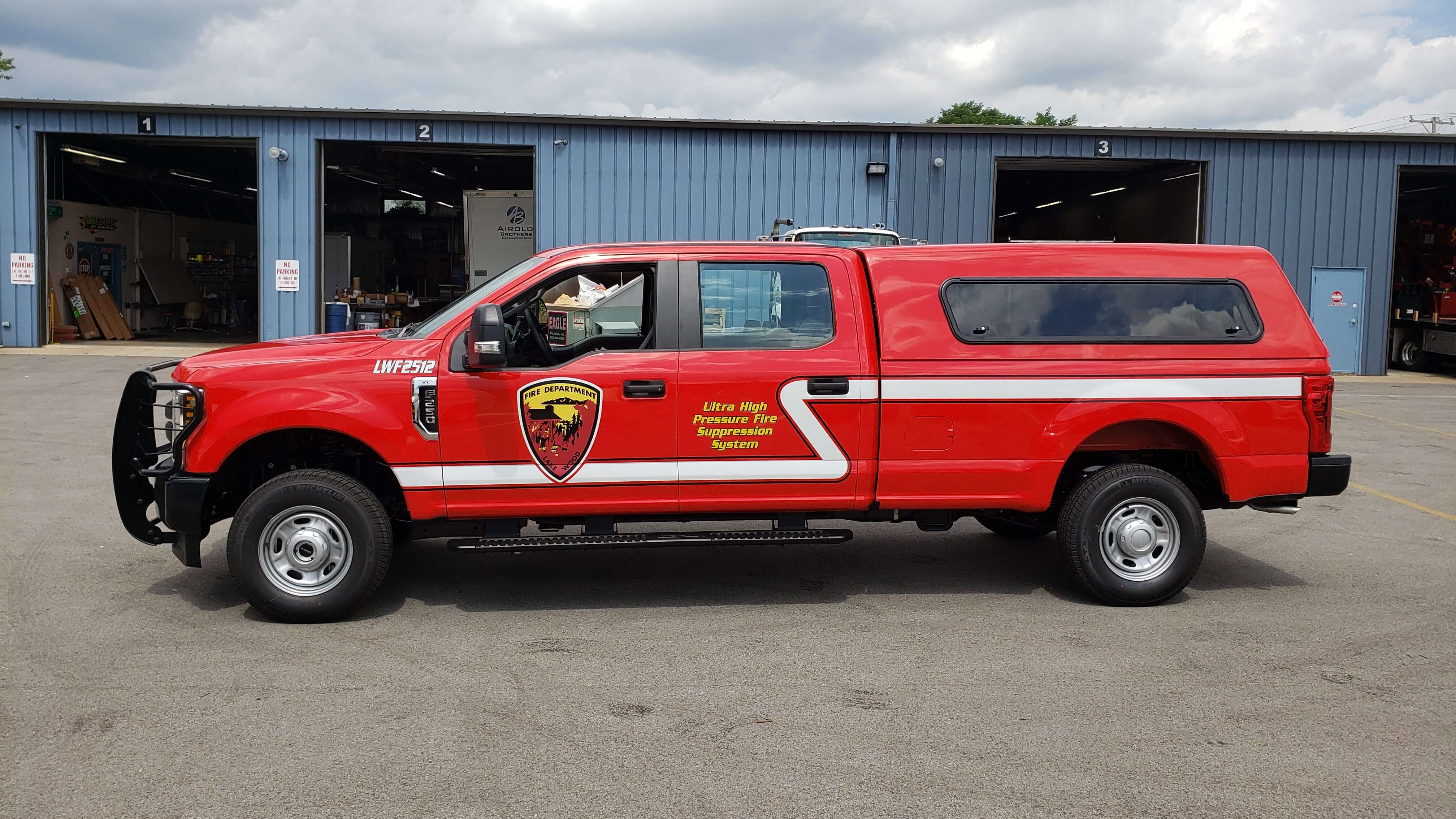 Lakewood Fire Department gold decals and chevrons