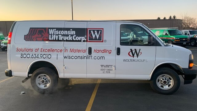 Wisconsin lift truck spot graphics