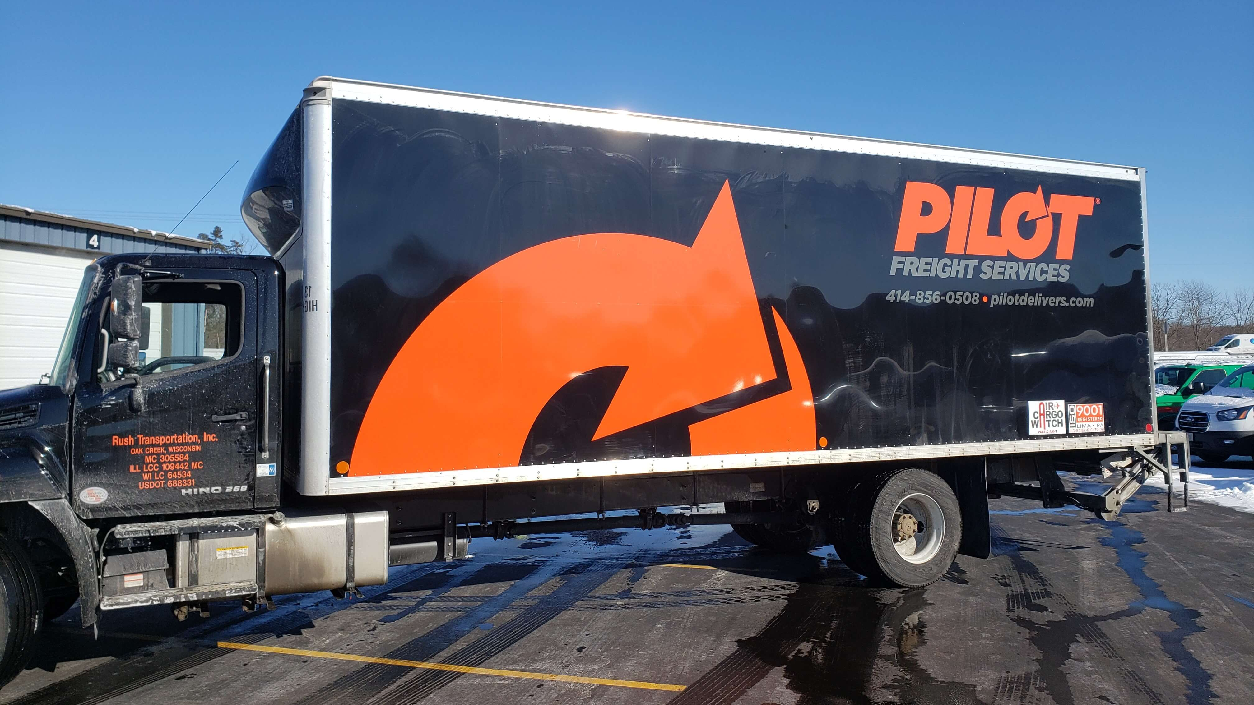 Pilot Freight Fleet Vehicle Wrap by Signs and Lines