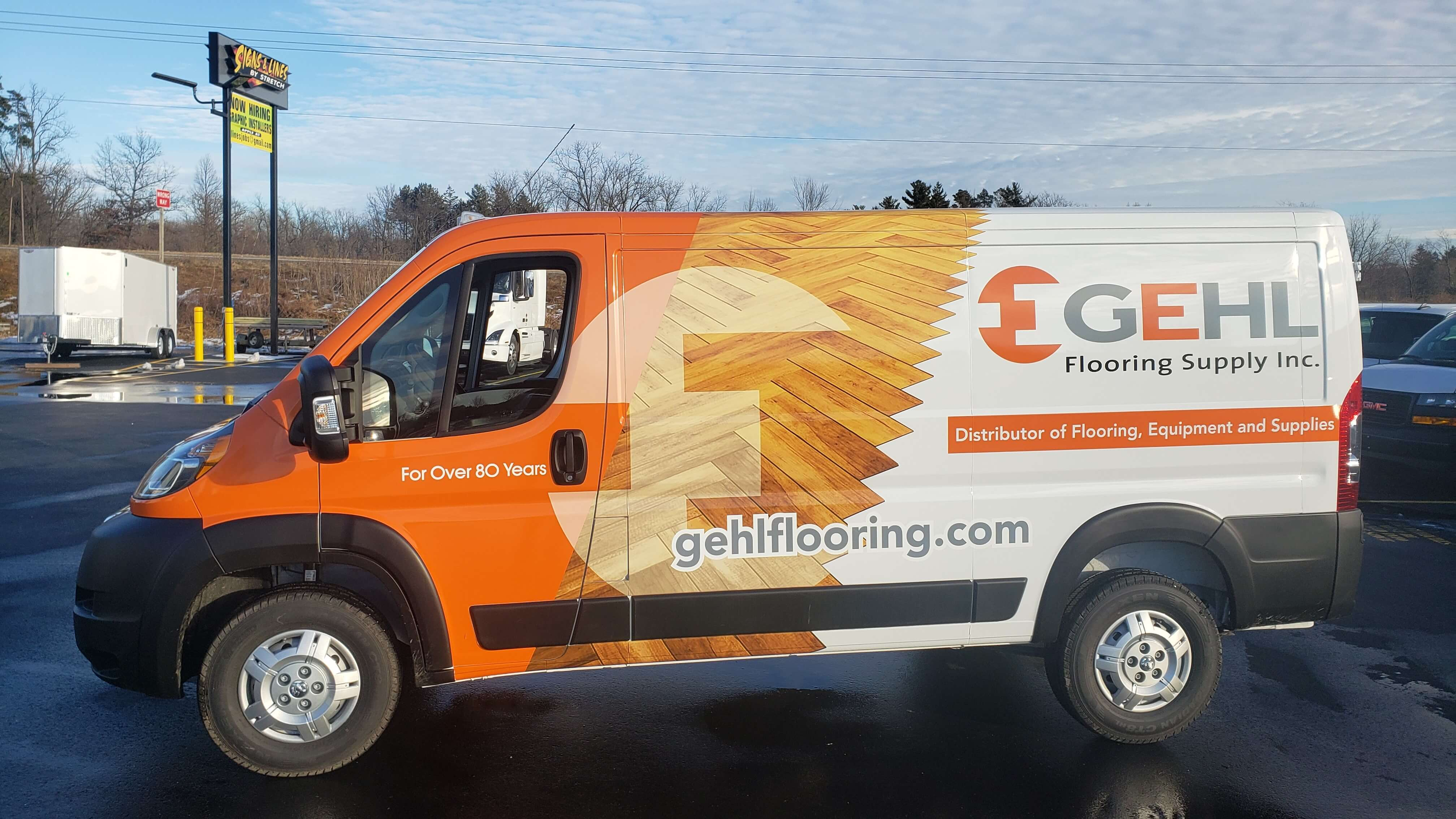 GEHL Flooring Fleet Vehicle Wrap by Signs and Lines