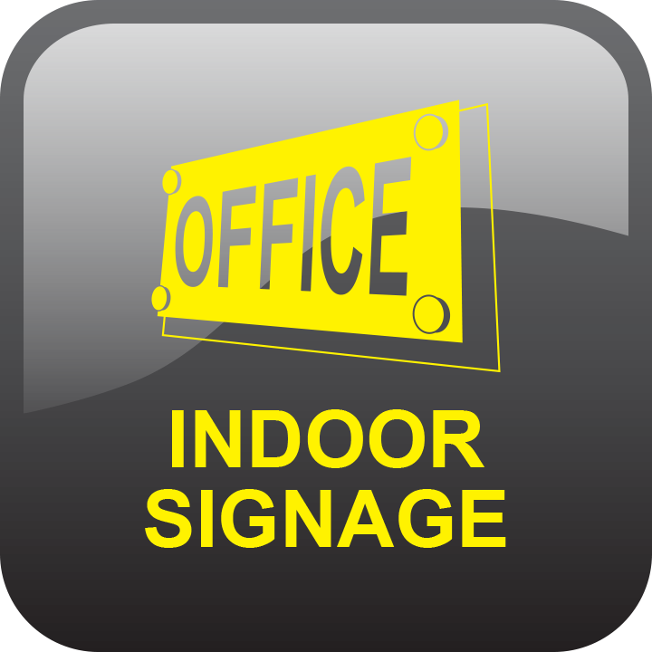 Indoor signage by signs and lines by stretch