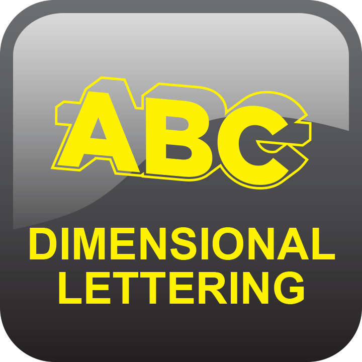 Dimensional lettering by signs and lines by stretch