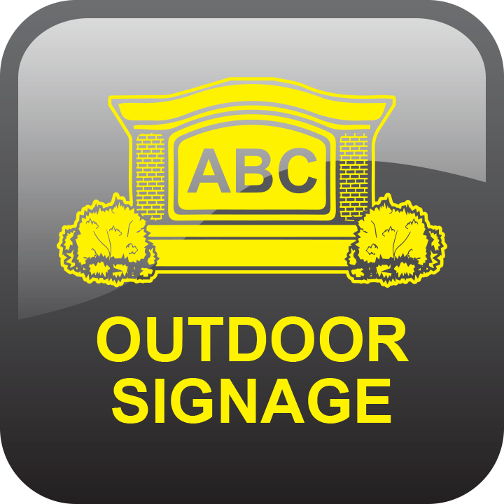 Outdoor signage by signs and lines by stretch
