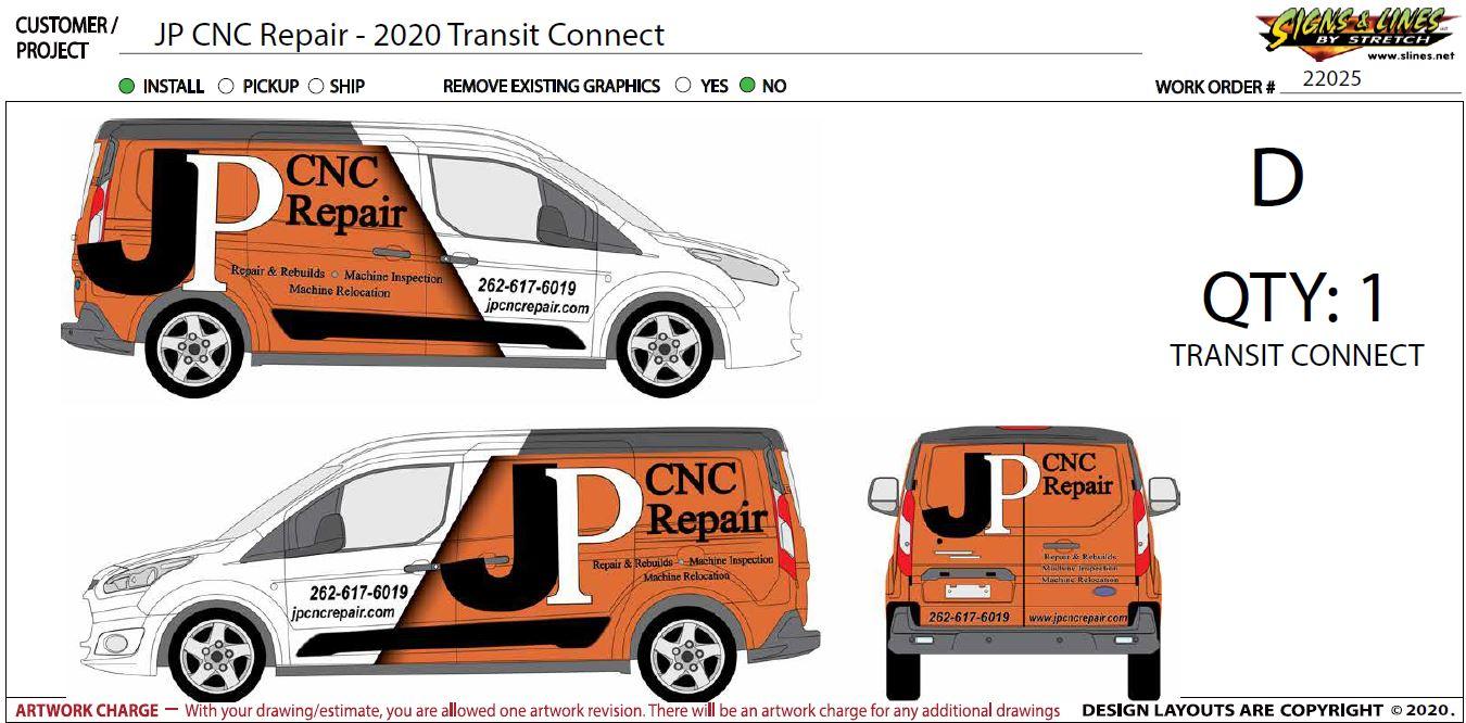 JP CNC Repair Art Graphic Service