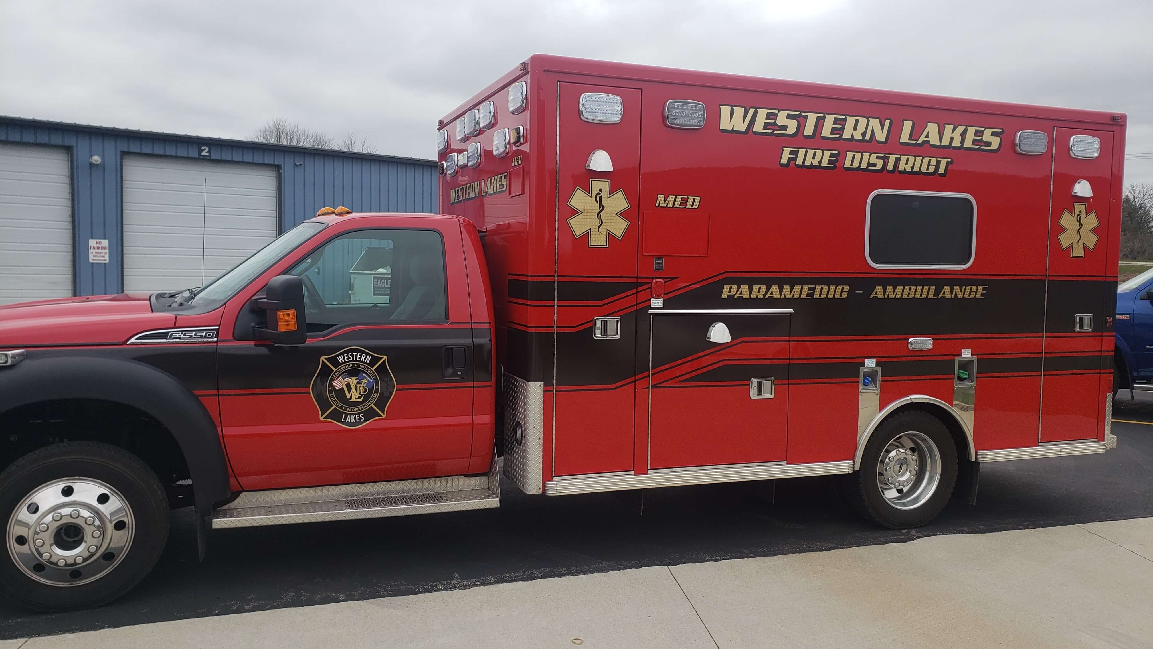 City of Waukesha Ambulance with High Reflective, 24k Gold Leaf Vinyl and stripes applied