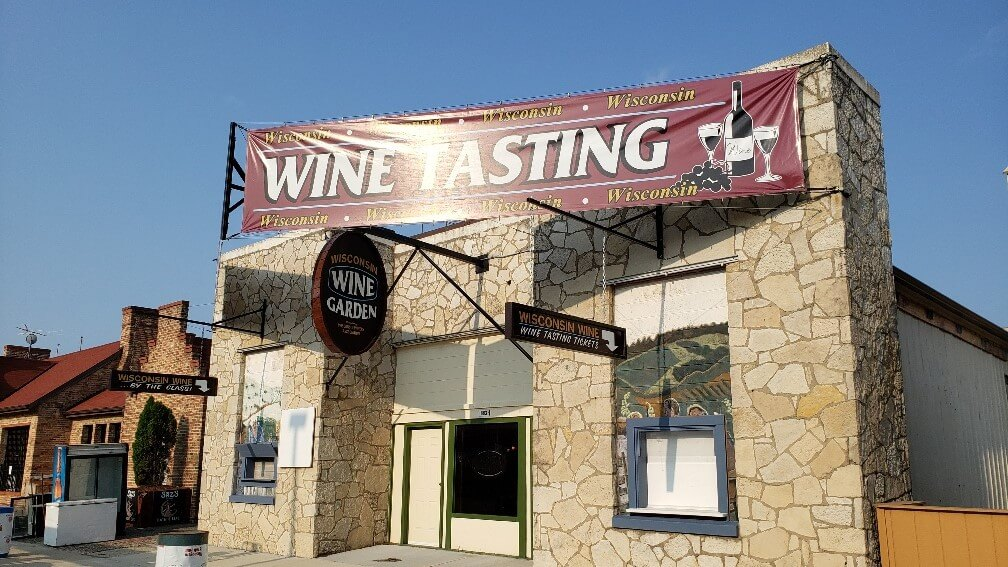 Outdoor Vinyl Banner for the Wine Garden at The Wisconsin State Fair in West Allis