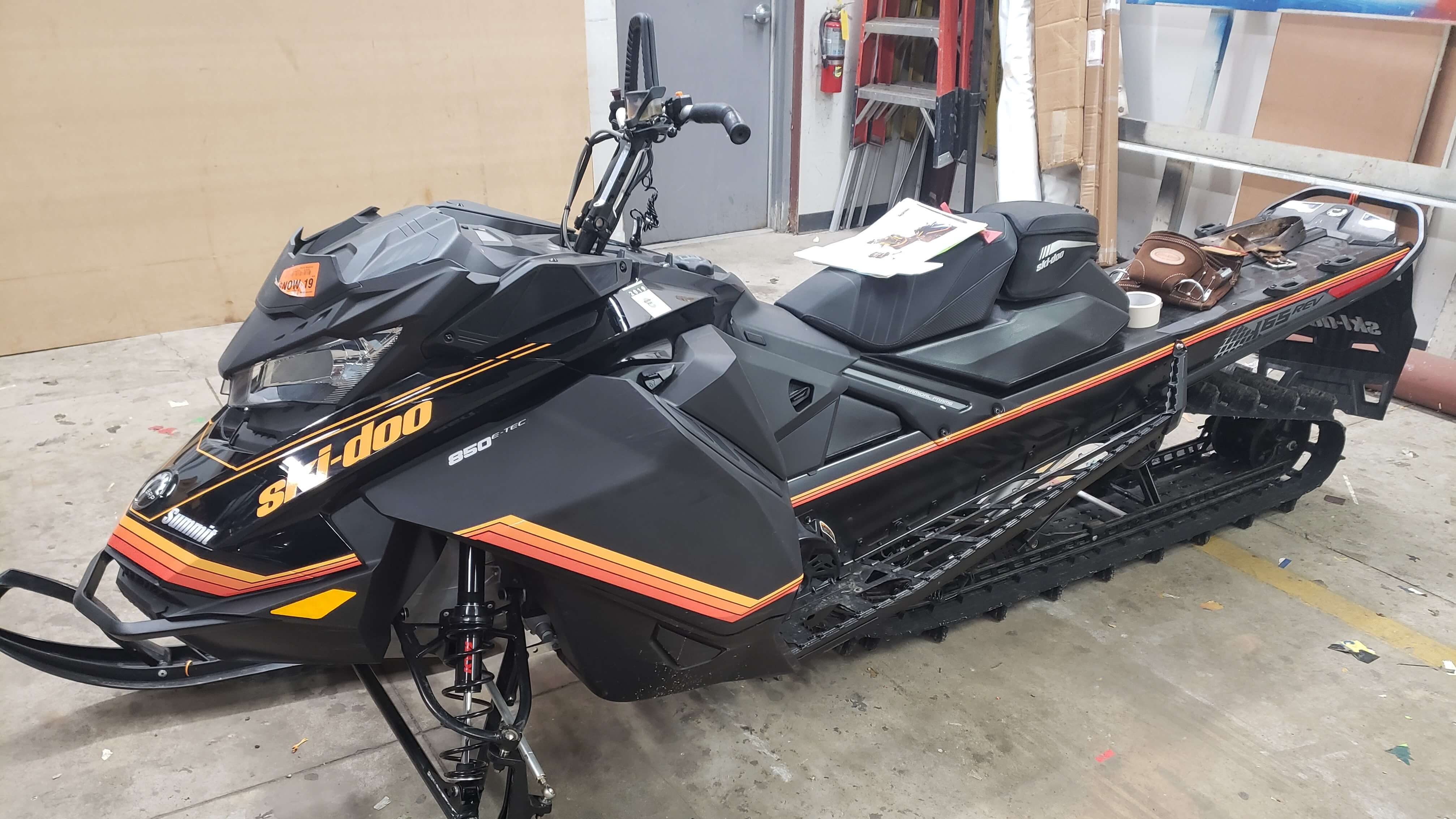 Ski Doo Snowmobile Pinstriping on Snowmobile in Signs and Lines by Stretch Garage
