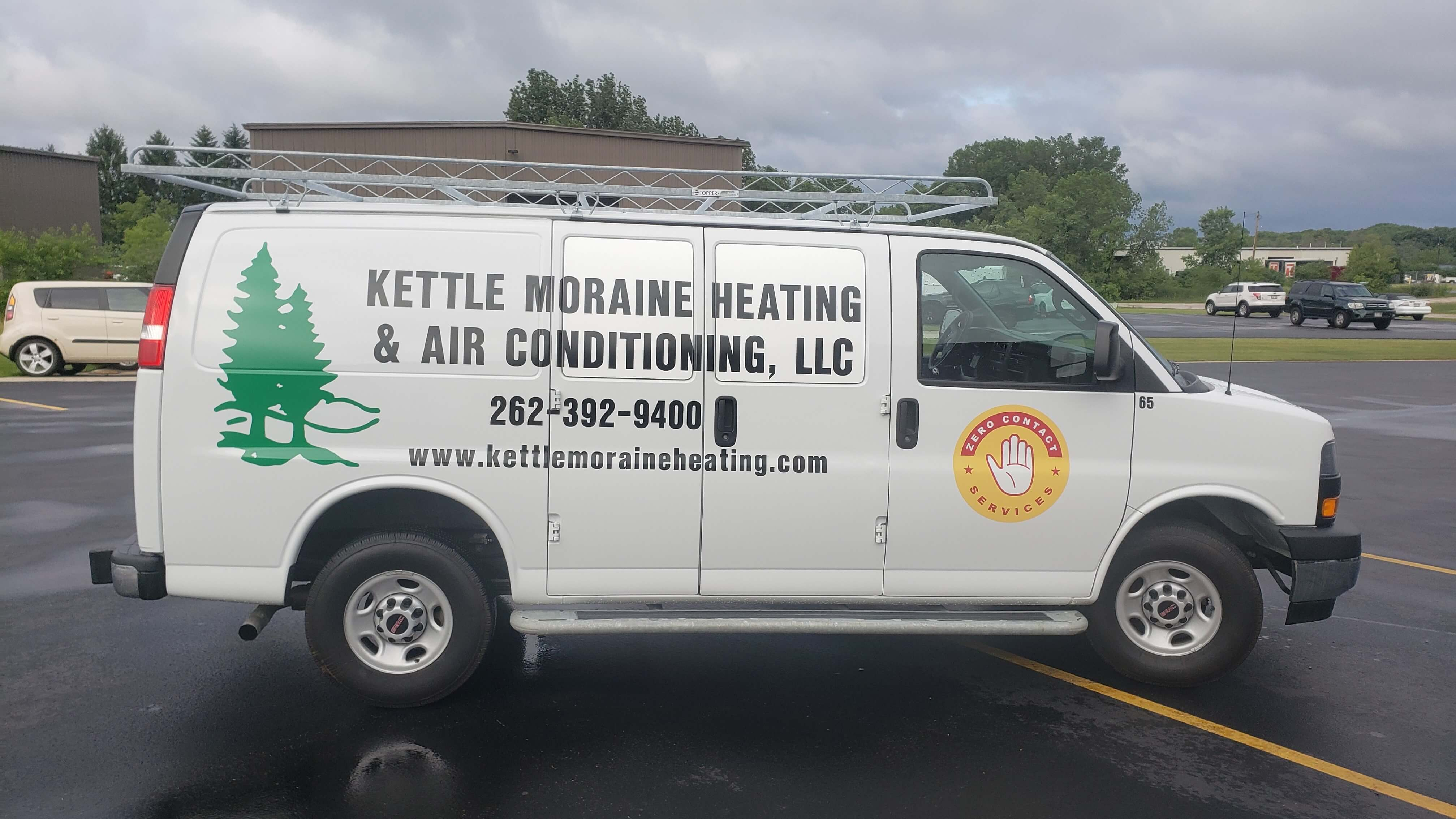 Kettle Moraine Heating and Air Conditioning Service Van Spot Graphics