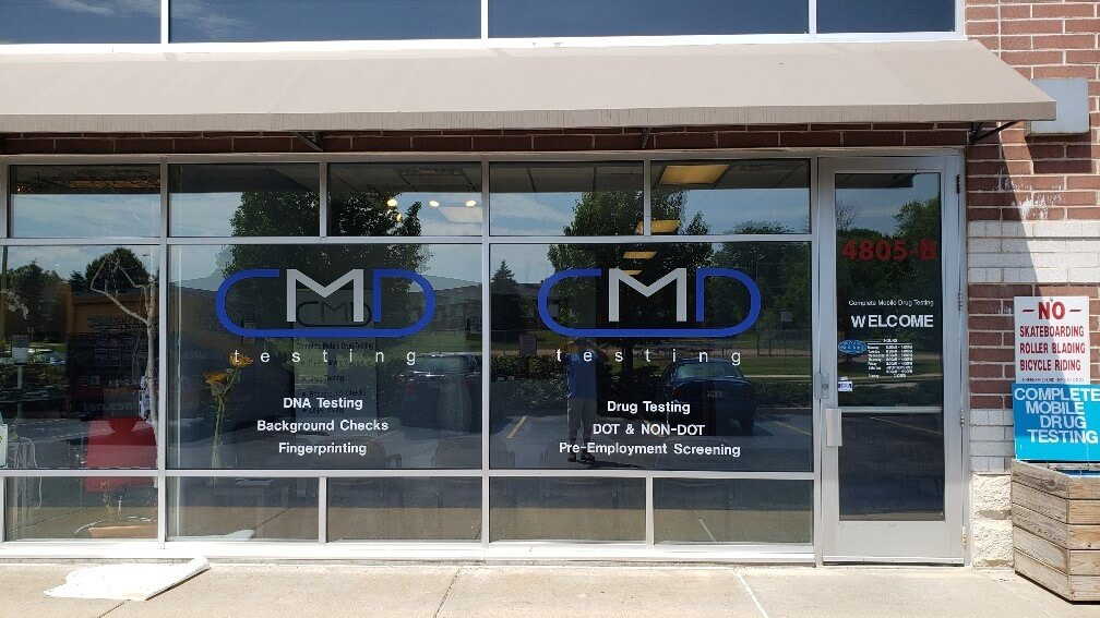 CMD Window Storefront Signs in Greenfield Wisconsin to promote branding, hours, and sales