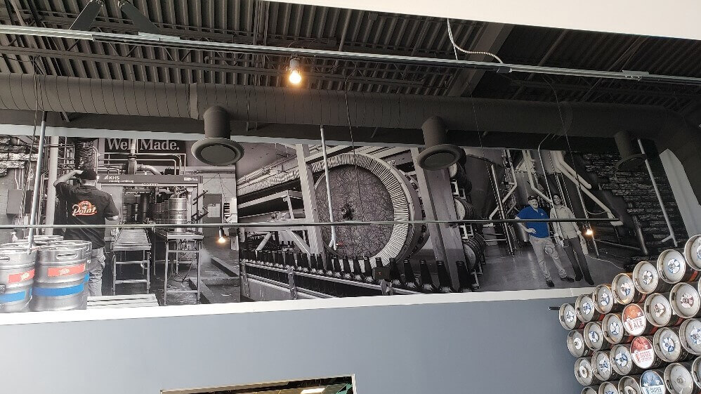 Indoor Industrial Wall Mural For Brewery In Milwaukee Wisconsin