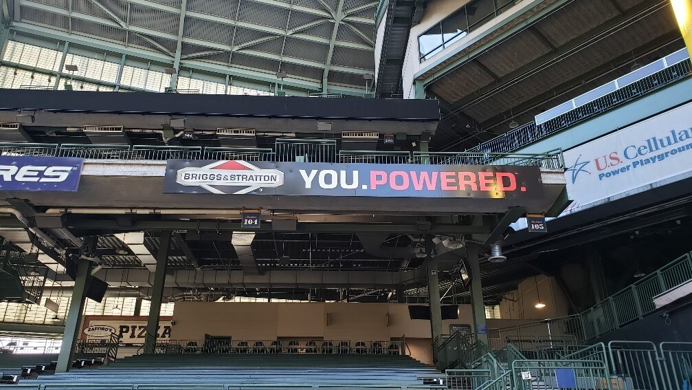 Outdoor Miller Park Briggs & Stratton Sign for Olympus Group