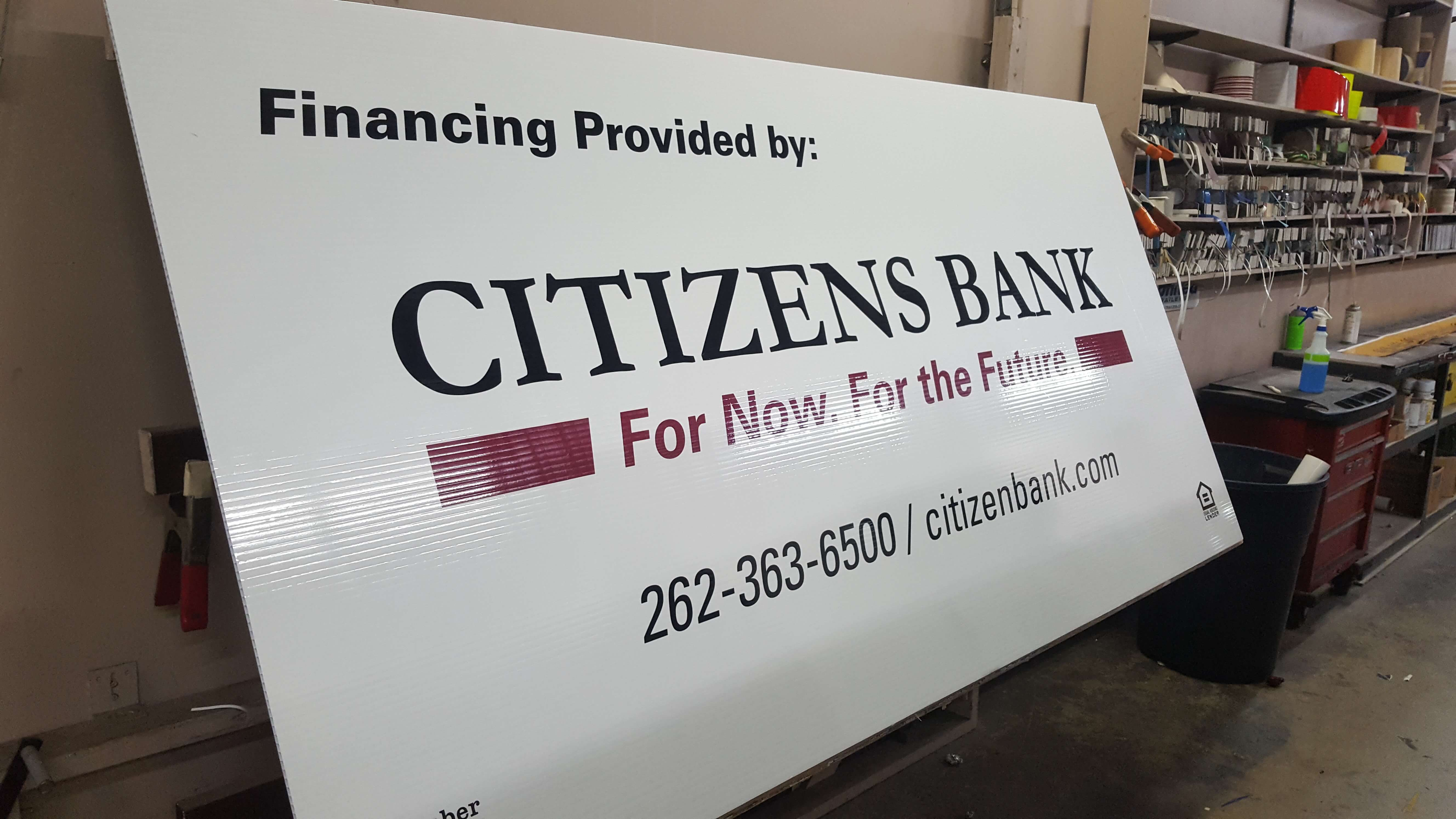 Custom Vinyl Sign Upgrade for Citizens Bank ATM in Milwaukee Wisconsin by Signs and Lines
