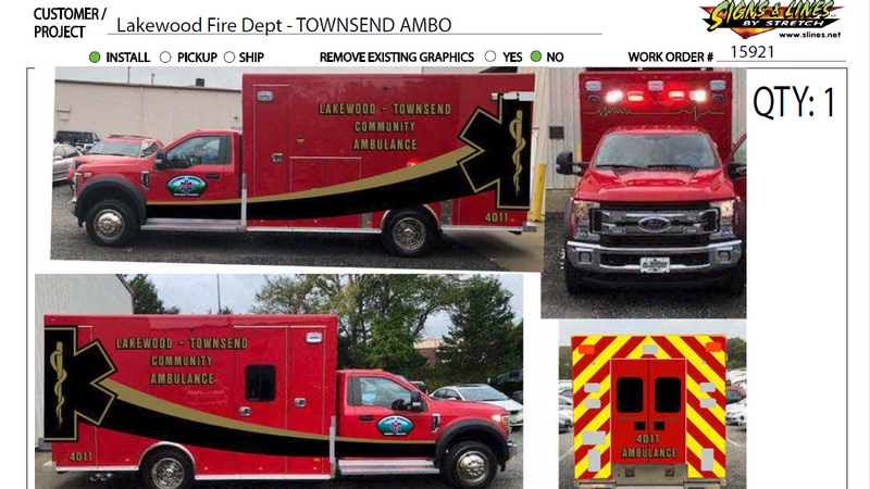 Lakewood Fire Department Vinyl Design Mockup by Signs and Lines