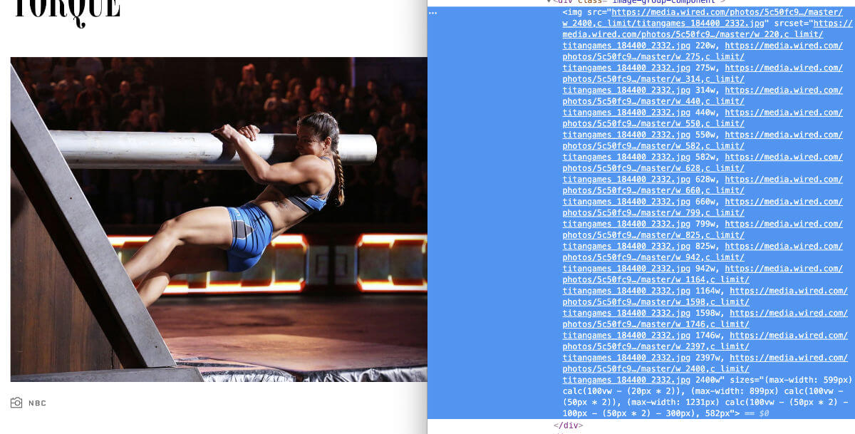 The featured image of a Wired.com article with no alternative text. The image is of an athlete scaling a gradient wall while holding their weight with a thick horizontal pole.