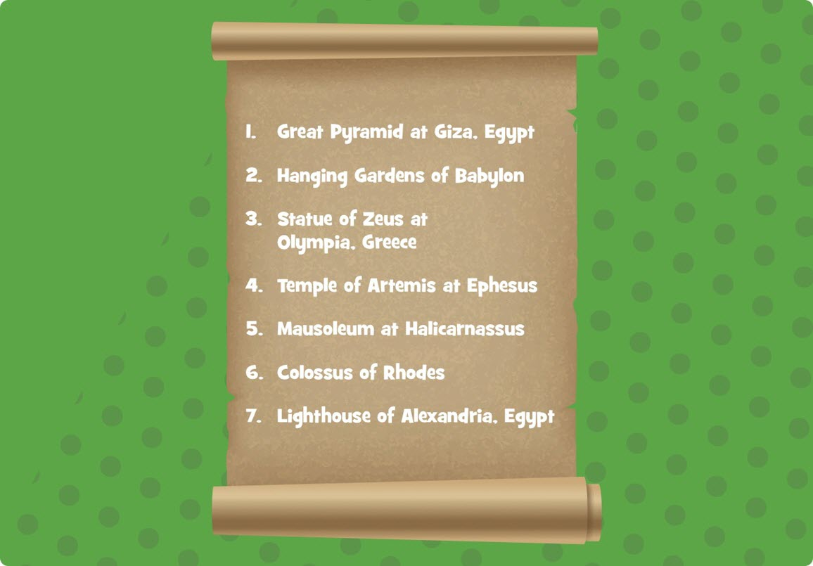 7 wonders of the ancient world list