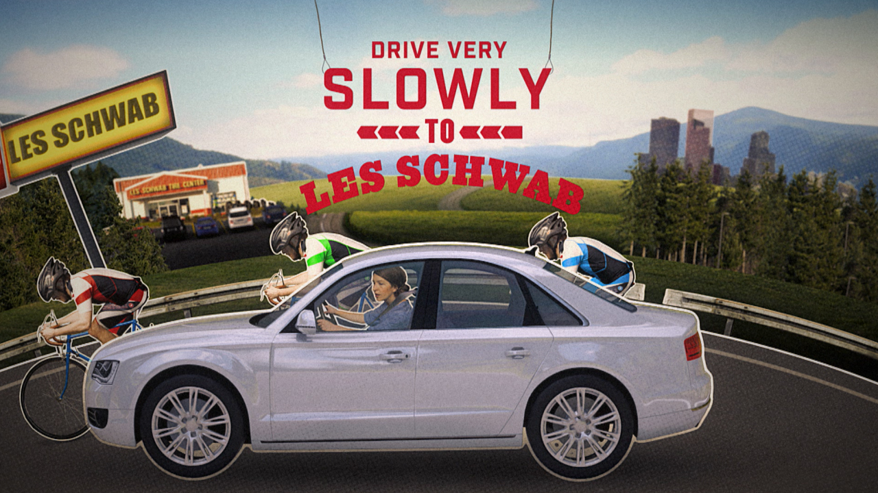Les Schwab Tire Commercial Ad Broadcast 3D Motion Graphics Digital Kitchen Digital Fiction Mike Kislovsky kgb