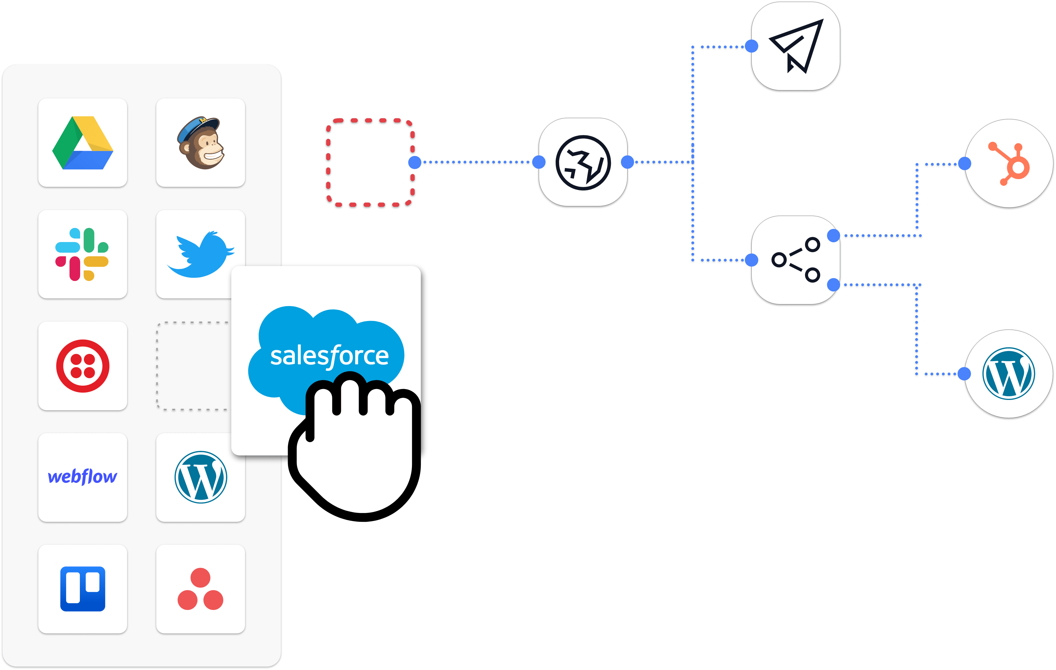 ipaas drag and drop builder