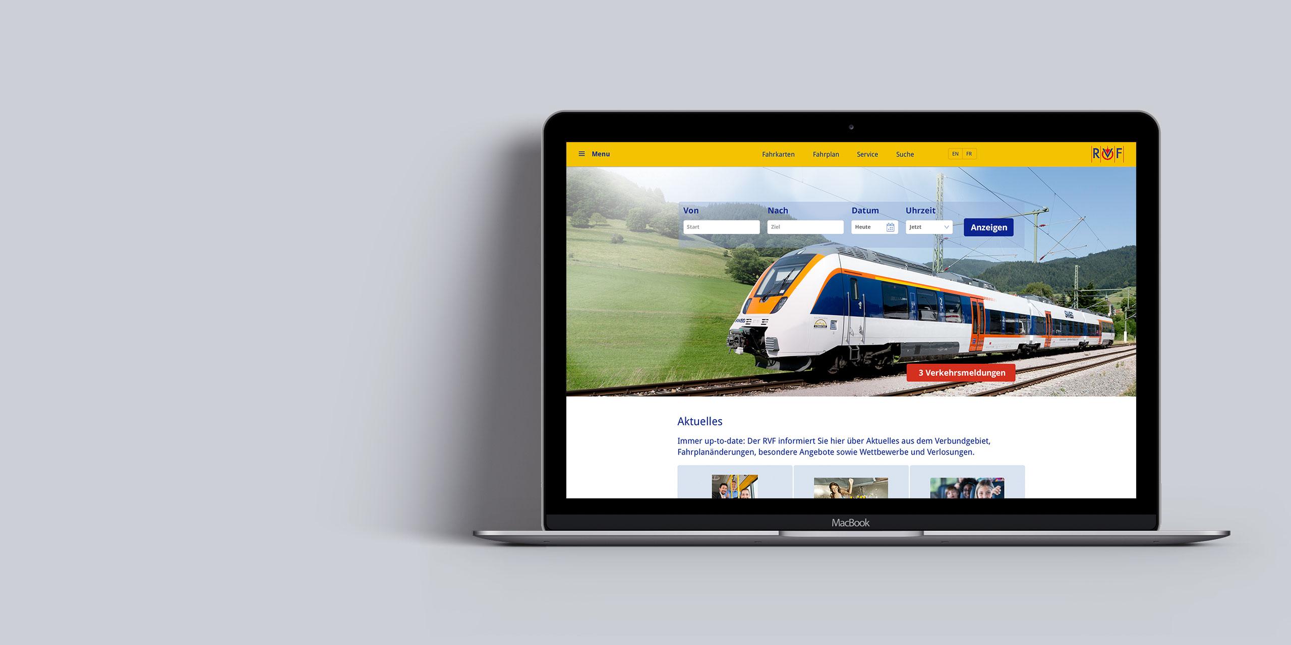 Website Regio Verkehrs Verbund