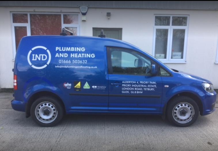 IND plumbing & heating Tetbury Van