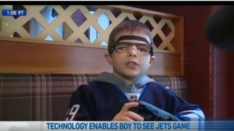New Technology Helps Legally Blind Boy See Jets Game