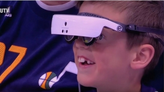 Utah Jazz Forward Buys Legally Blind 7-year-old Fan Special Glasses to See the Games